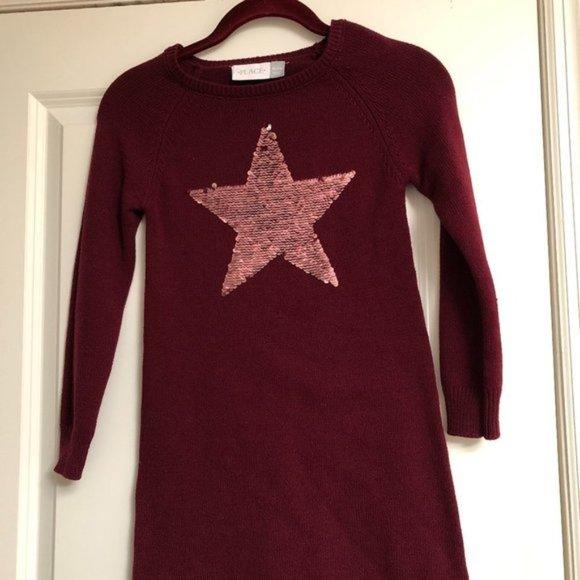 Star Sweater Dress with Flip Sequins (Girls)